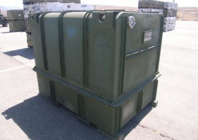 military shipping container