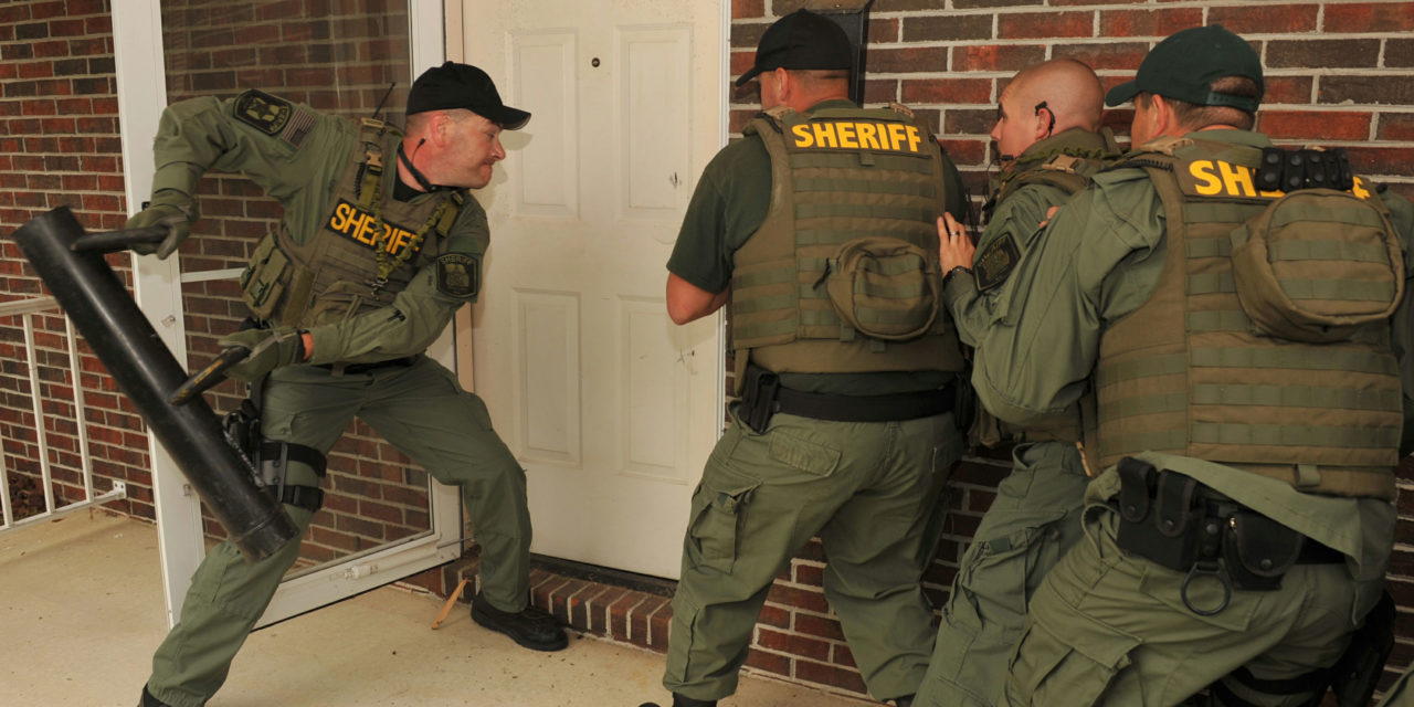 Image result for sheriff knocking on door